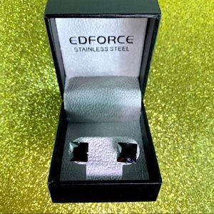 Edforce Stainless Steel Men's Earrings